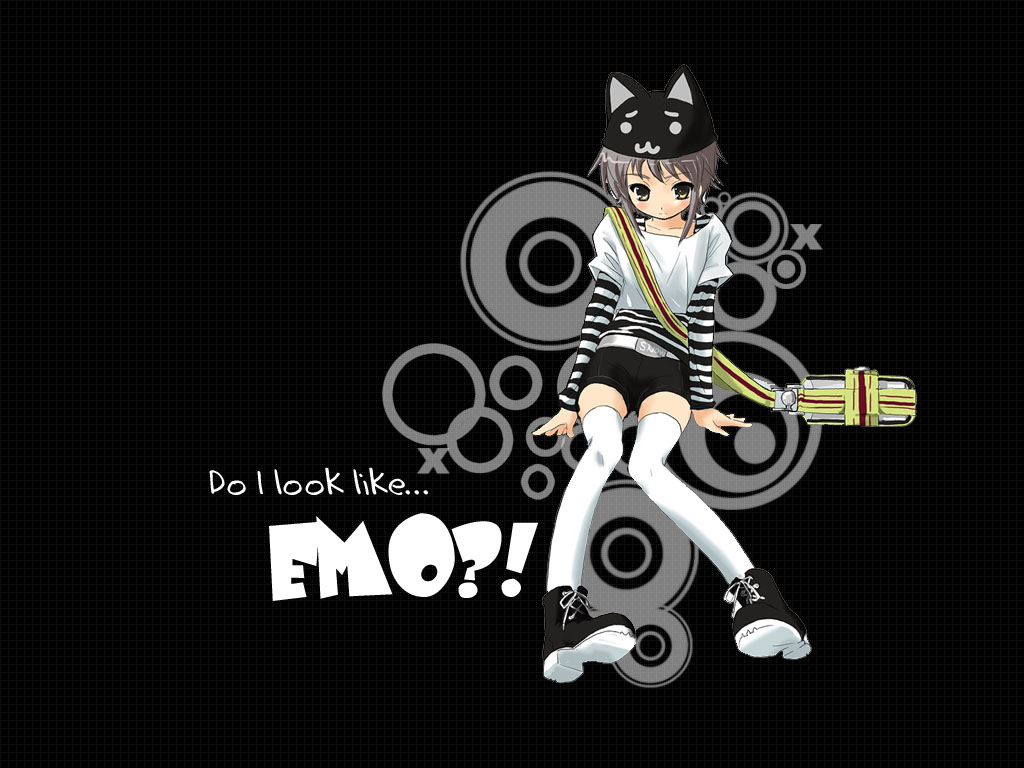 wallpaper emo anime