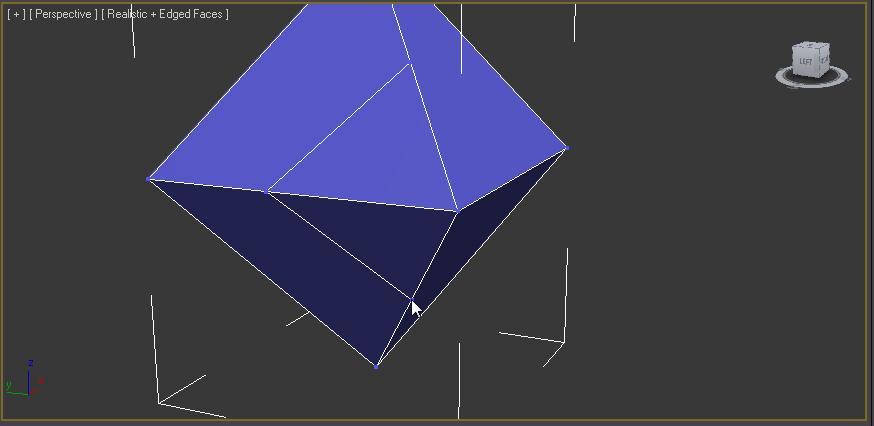 Cortando varios polígonos con el comando cut en 3ds max