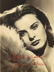 Jean Peters, con mirada de sueño o ensueño
