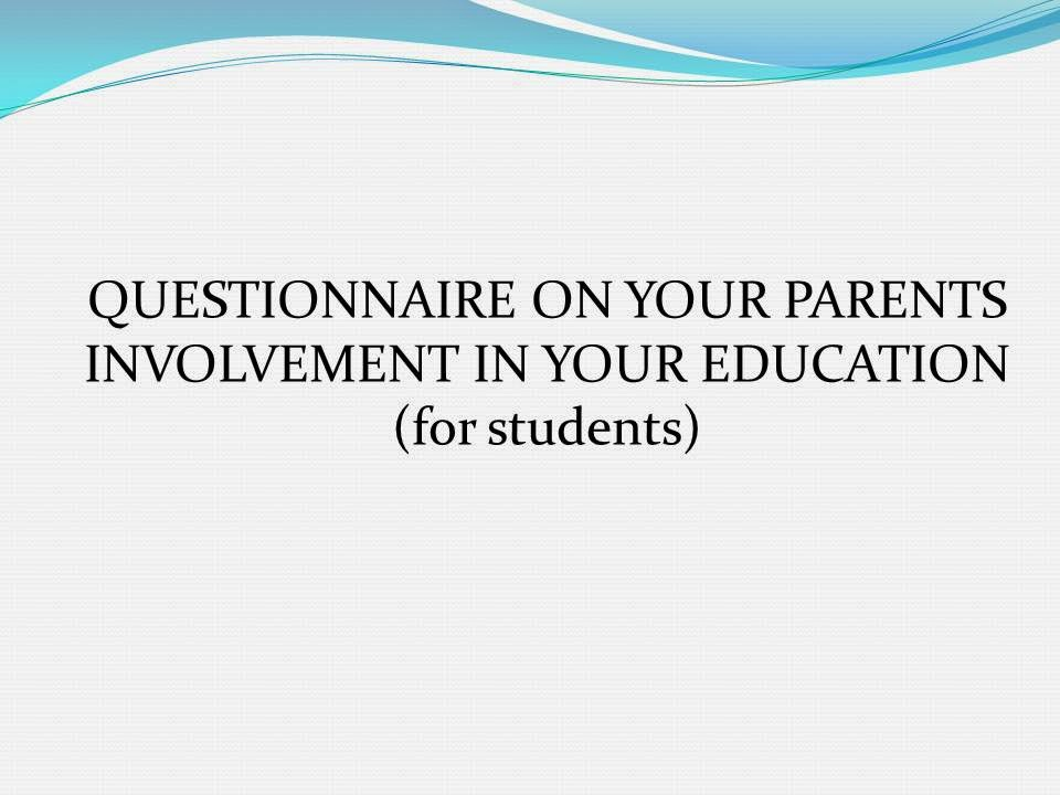 dissertations on parental involvement