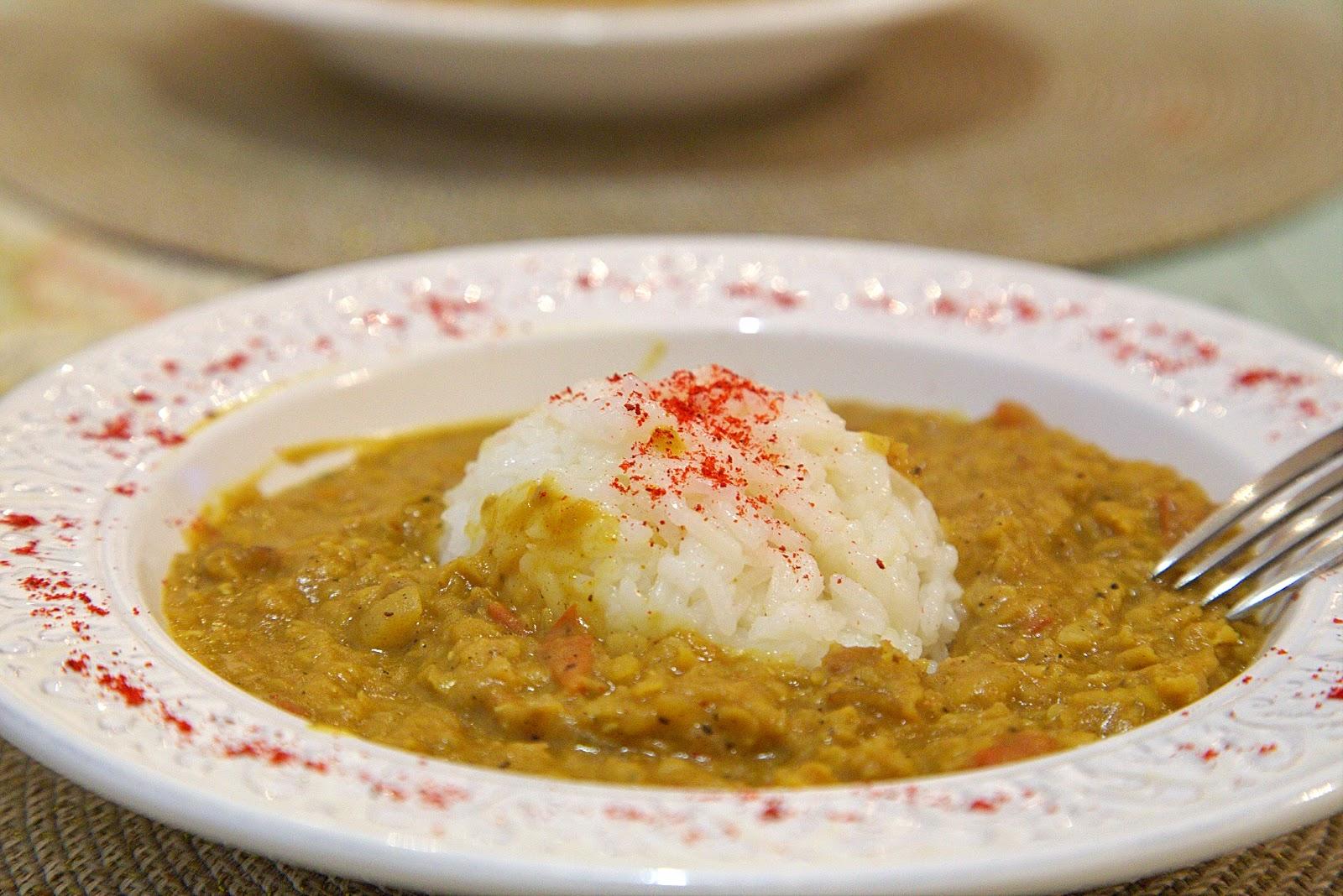 постное карри чечевица индийская кухня жасминовый рис