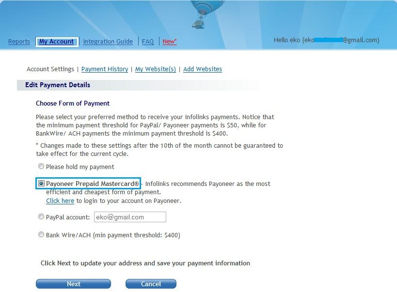 Cara Mendaftar Kartu Kredit Payoneer Infolinks 2