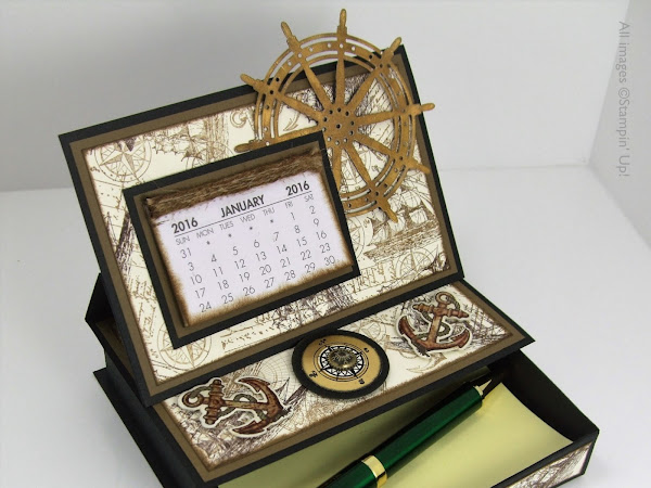 Single Drawer Desktop Calendar & Post It Note Holder