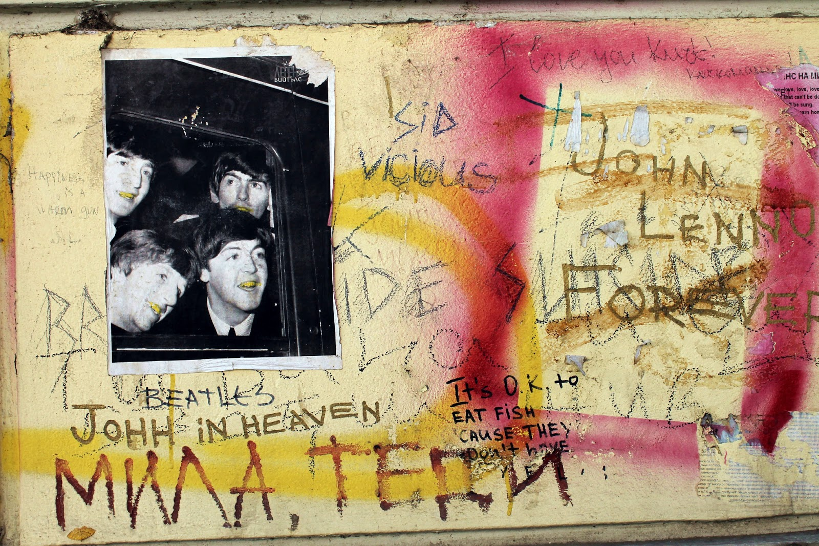 THIS BLOG WAS WRIT IN WATER: John Lennon Wall, Sofia, Bulgaria
