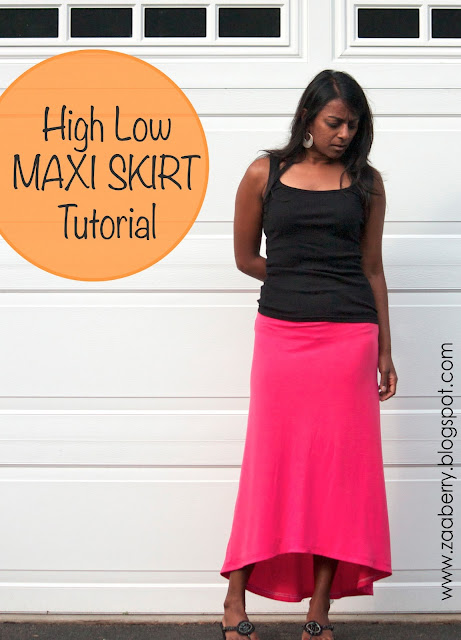 high low skirt pattern