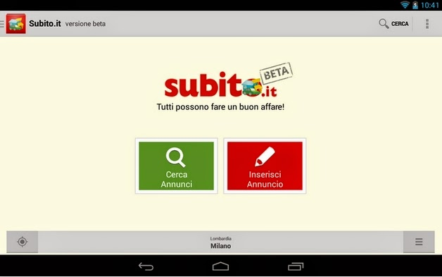 SUBITO.IT APP GRATIS DA SCARICARE PER SMARTPHONE TABLET ANDROID IN ITALIANO