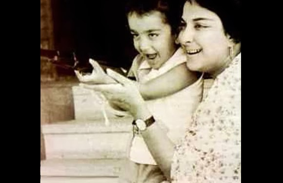 childhood rare photos of sanjay dutt