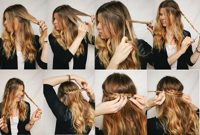 Peinados con trenzas con pelo suelto elainacortez
