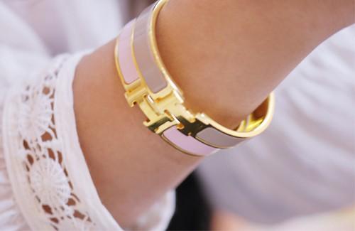 Hermes Enamel H Bracelet