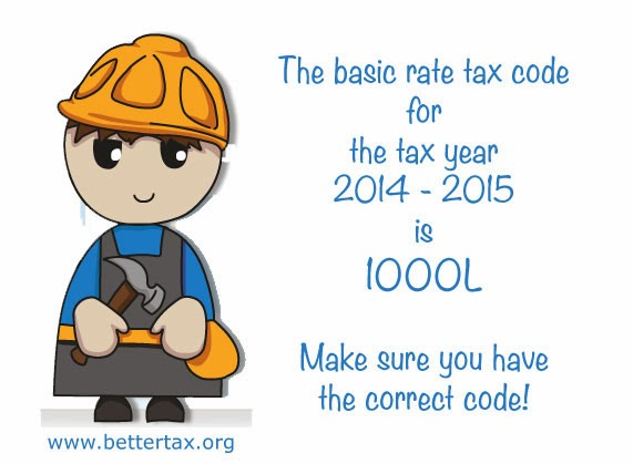 tax code 1000l for 2014 - 2015 tax year