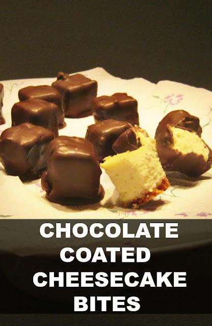 Chocolate Coated Cheesecake Bites
