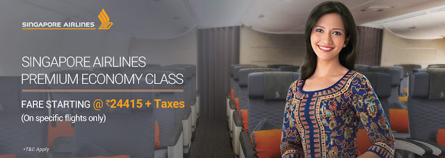 Singapore Airlines Premium Economy Class Fare Starting @ 24415+Tax ....www.aksharonline.com