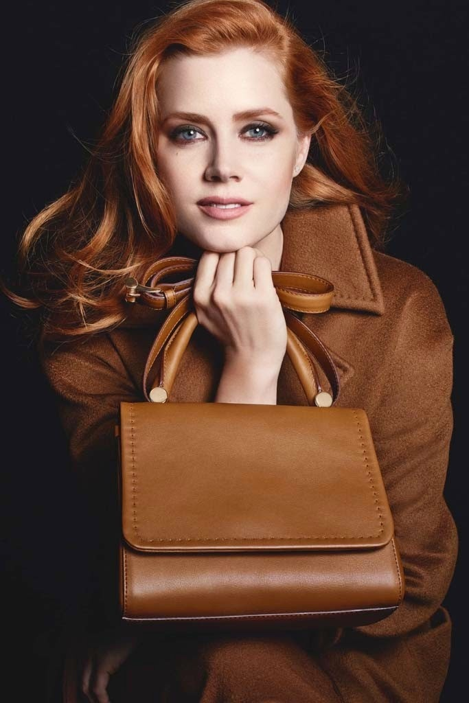 Amy Adams is enlisted for Max Mara Accessories Fall 2014 Campaign