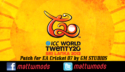 ICC T20 World Cup 2012 patch for cricket 07(by GM Studios)