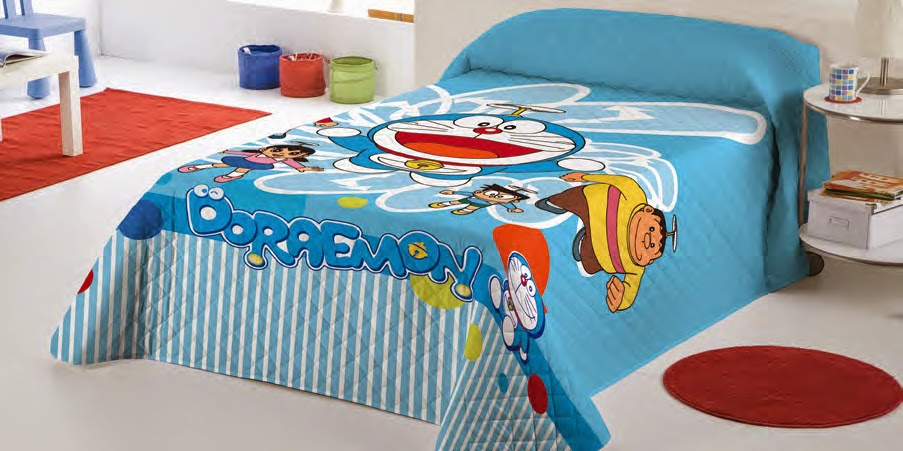 Volador Doraemon. Euromoda. Colcha Bouti