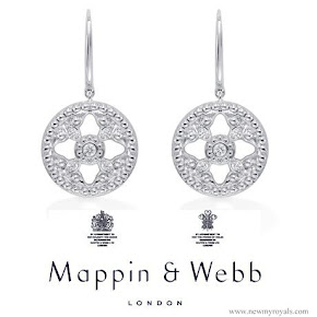 Kate Middleton Style Mappin & Webb Empress Drop Earrings