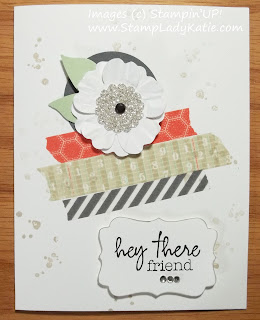 Card made with Stampin'UP! Washi Tape and stamps from The Paper Pumpkin Welcome Kit