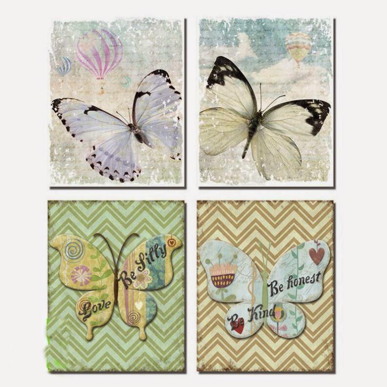 lienzo mariposas