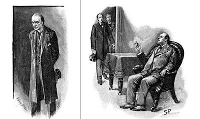 Professor Moriarty Mycroft Holmes Sidney Paget drawings Sherlock Holmes Arthur Conan Doyle