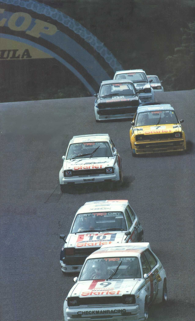 Toyota Starlet, P6, racing, wyścigi