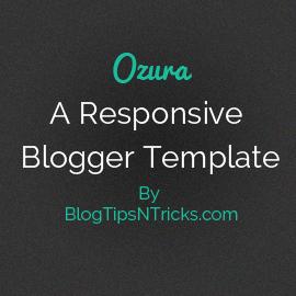 Ozura a Responsive Blogger Theme