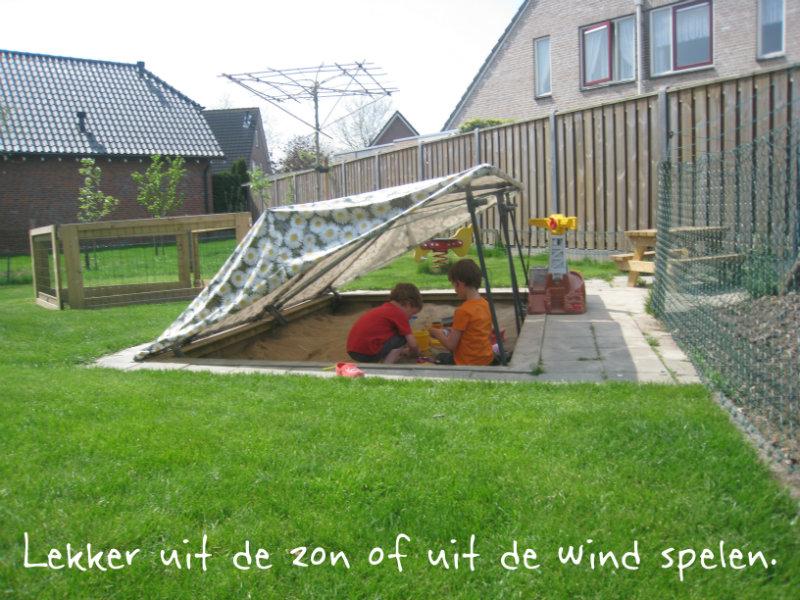 Lekker spelen uit de zon of uit de wind