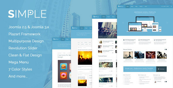 Simple Love v1.1 – Multipurpose Joomla Template