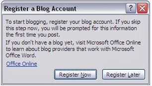 Daftarkan Blog baru