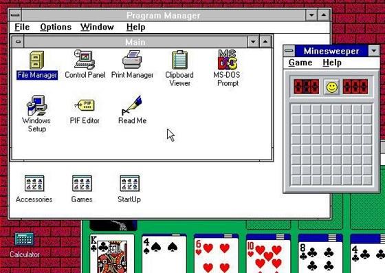 Windows 3.1 foi lançado em 1990