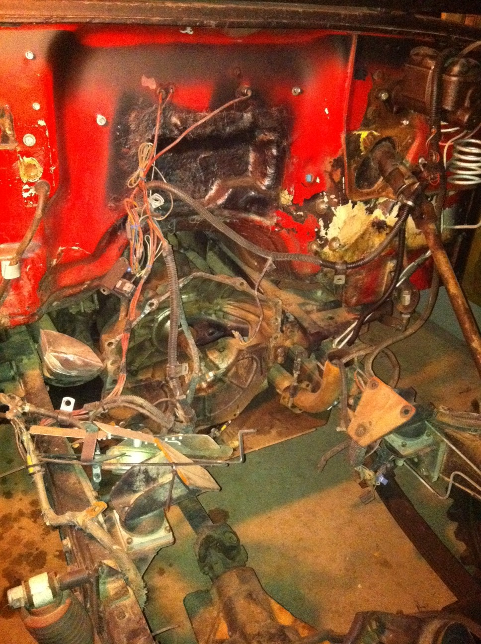 Background Info Jeep Cj5 Project Cen Tech Wiring Harness Cj Current State Of My Engine Bay It Is Uglier Than Sin Right Now Because Its Chillin On Ice In The Mn Winter Stuffed A Garage With First Coat