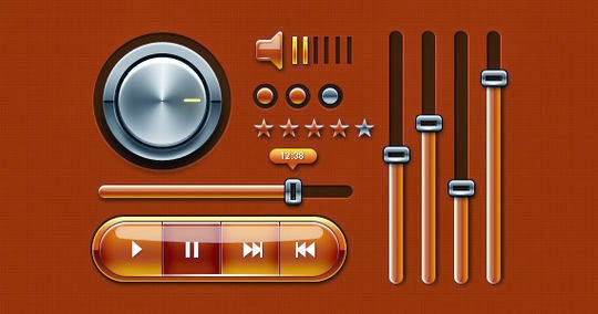 Music UI Web and Mobile Phones (PSD)