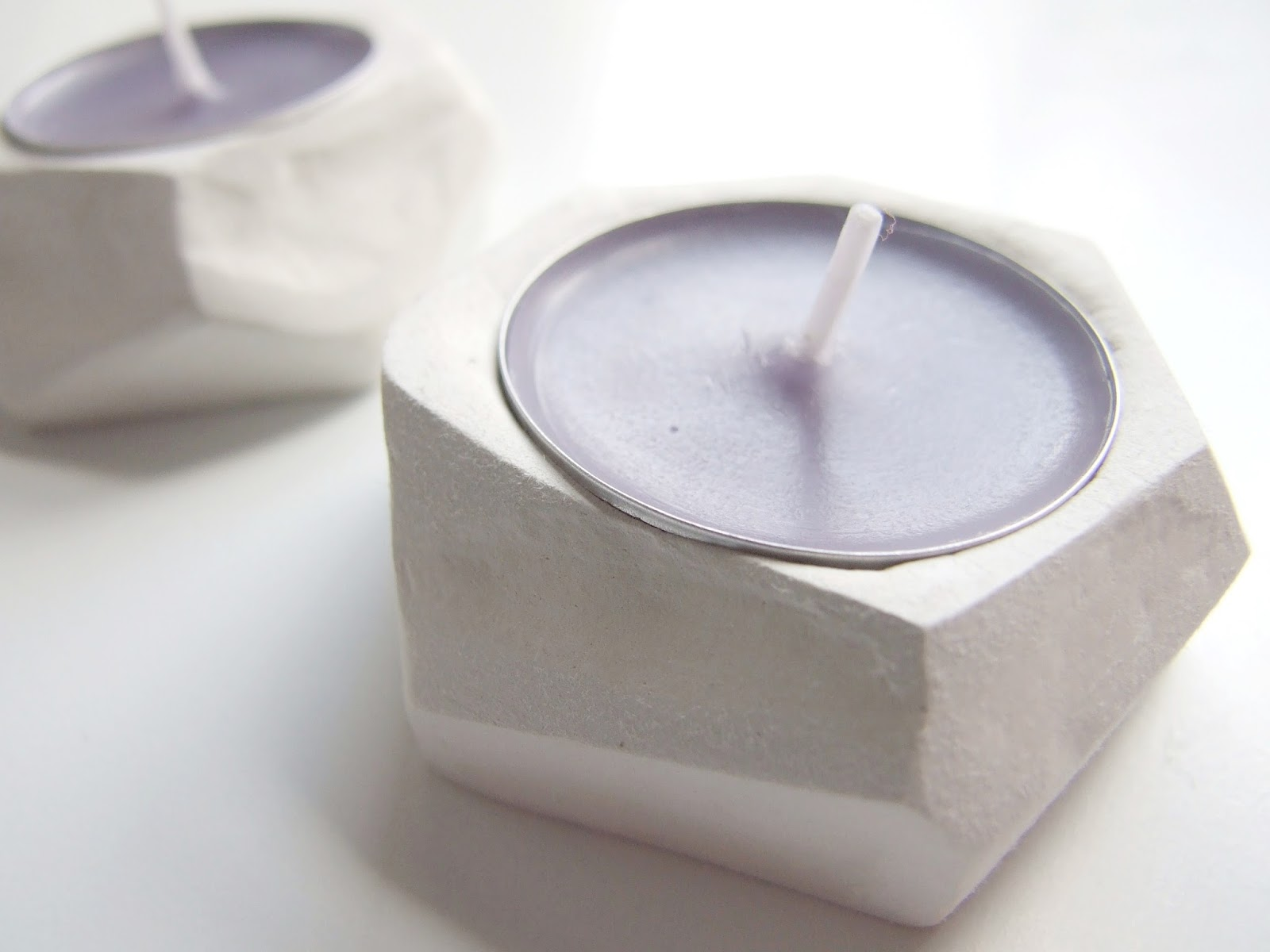 diy faceted clay tealight holders gathering beauty. Black Bedroom Furniture Sets. Home Design Ideas