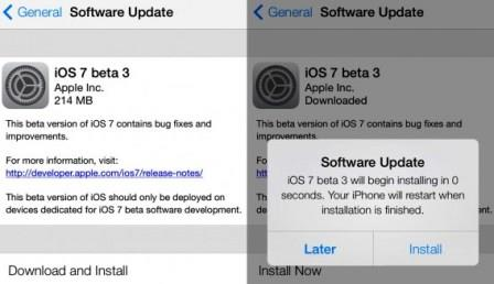 iOS 7 Beta 3 With Improved Features And Bugs