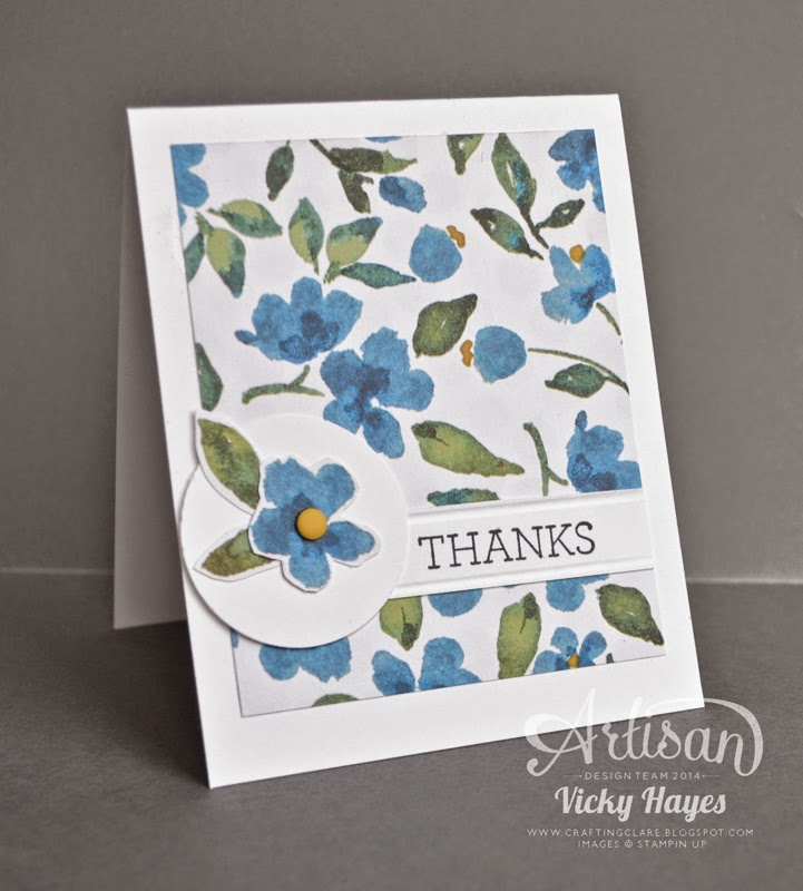 An idea for making cards with patterned designer paper