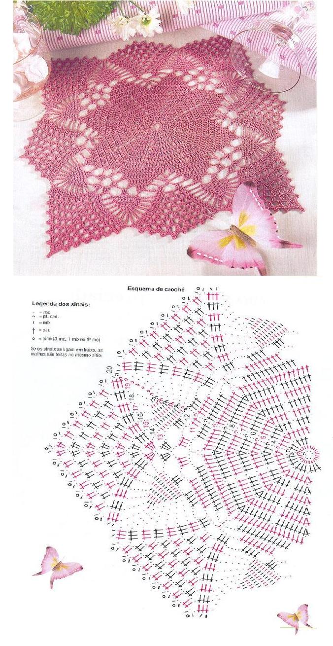 Carpeta de lindo diseño con patrón para tejer con ganchillo