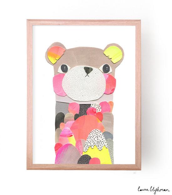 Laura Blythman Audrey Bear print