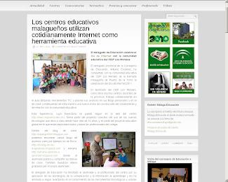 El delegado de educación de Málaga nos visita