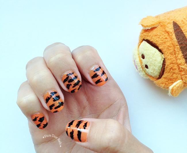 Tigger inspired Tiger Animal Print Nails