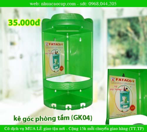 KỆ GÓC, kệ nhựa, kệ phòng tắm, kệ góc phòng tắm (KG04)