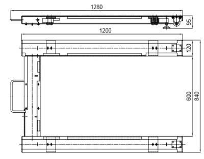 u tipi palet terazi teknik çizim