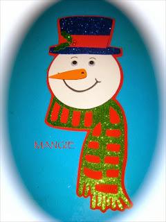 Muñeco nieve calendario casi listo