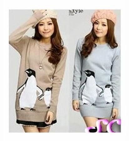 baju rajut korea pinguin
