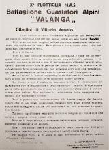 "Vittorio Veneto 1944 - Battaglione Guastatori Alpini ""Valanga""  X^ MAS"