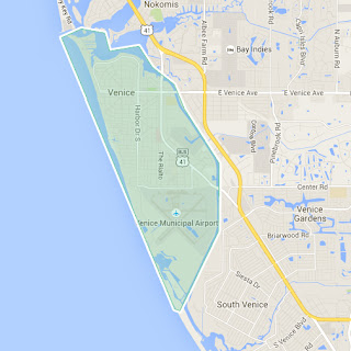 Map of Venice Island FL