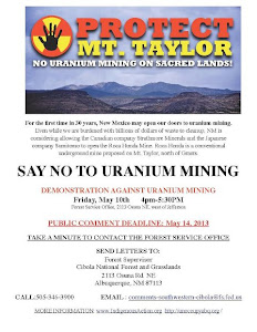 &#39;NO!&#39; to Uranium Mining Friday in Albuquerque