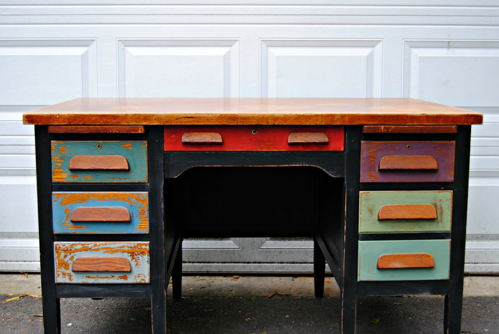 Painted Desk colorfully painted desk }