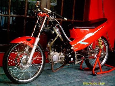 Motor drag Kumpulan Modifikasi Honda Supra drag