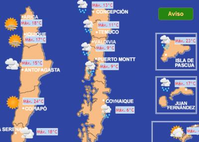 dónde puedo ver cómo estará hoy el clima en santiago 2014