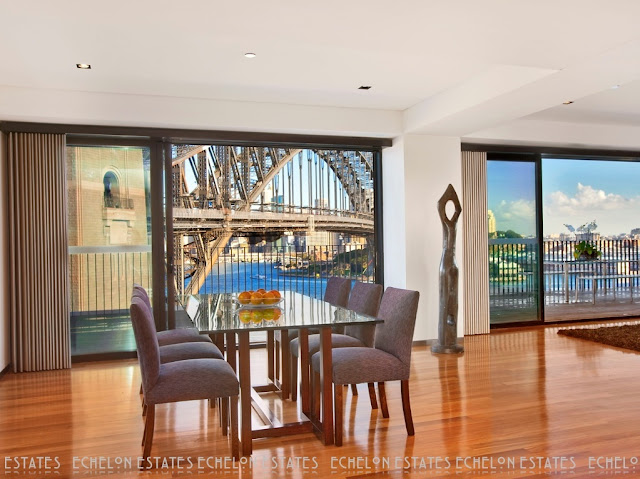 Picture of the bridge as seen from the dining room