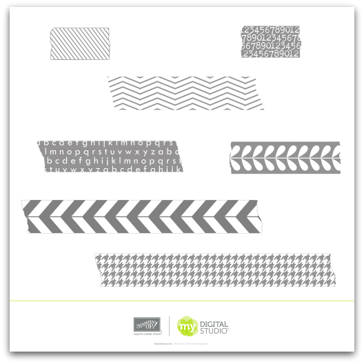 Stampin' Up! Tape It Stamp Brush Set Digital Download